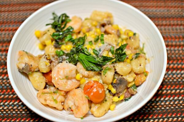 shrimp and corn gnocchi blue apron