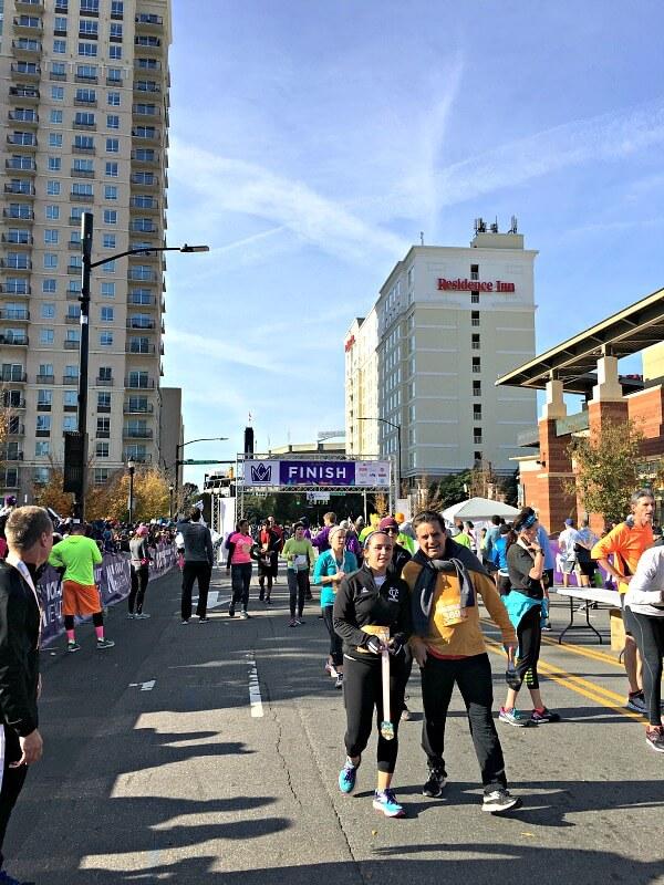 Charlotte Half Marathon Finish Line