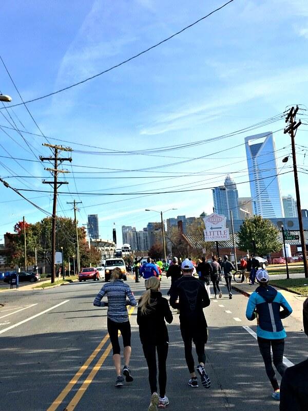 Charlotte Half Marathon Mile 12