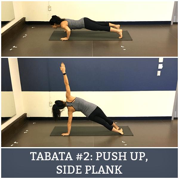 push up, side plank exercise
