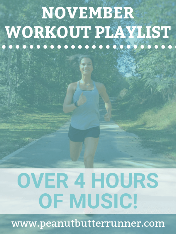 November workout playlist with over four hours of music to motivate you through your sweat sessions! Available on Spotify.
