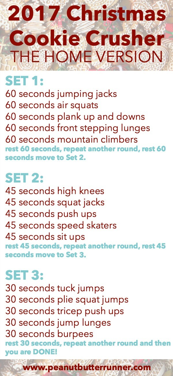 2017 Christmas Cookie Crusher Workout: The Home Version