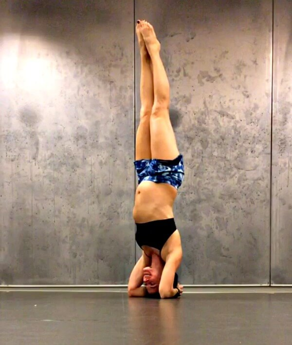pregnant headstand