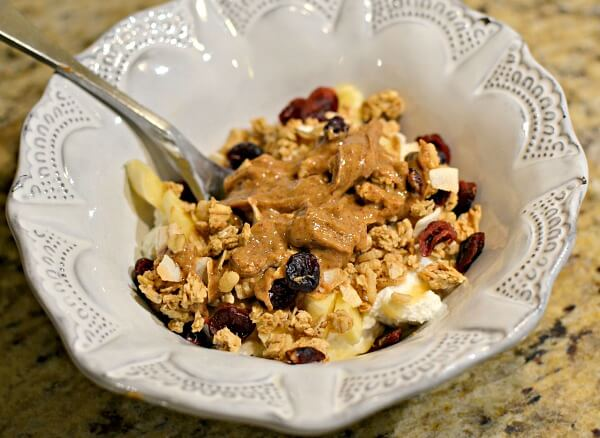 yogurt and granola bowl
