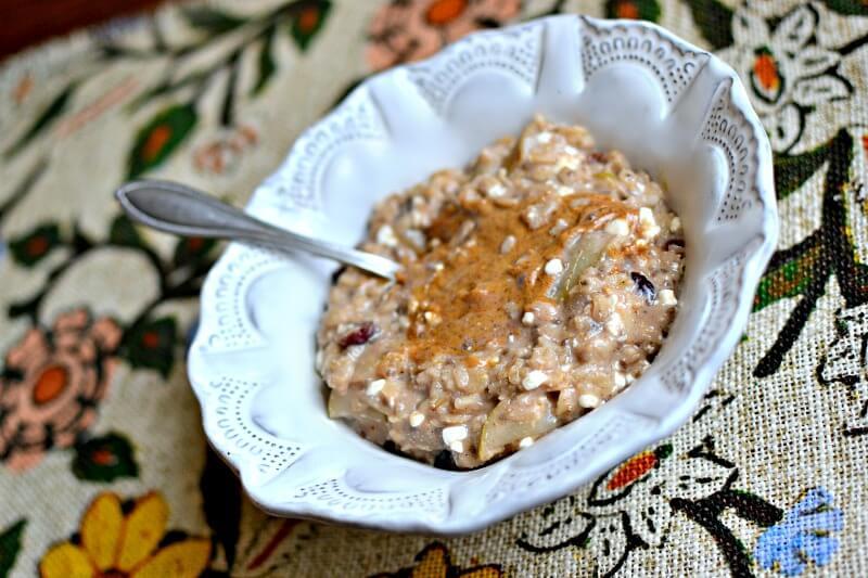 pear cranberry oatmeal
