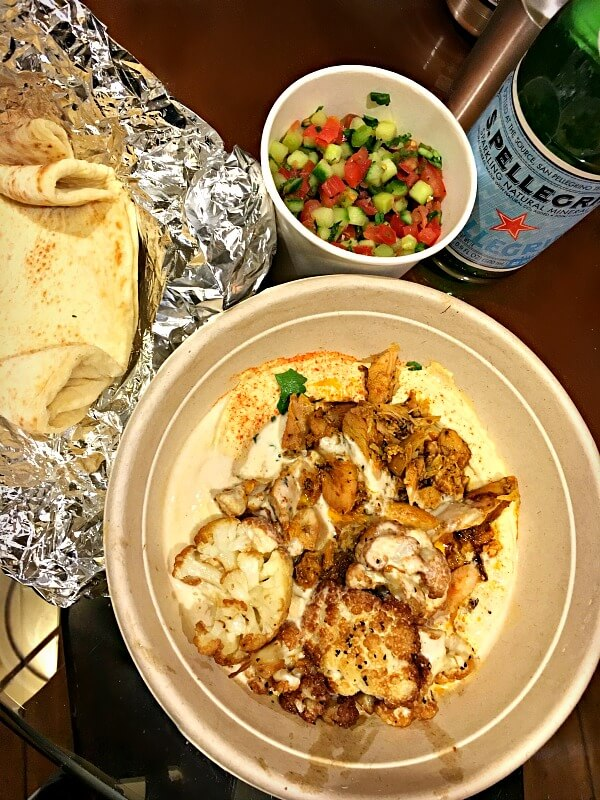 yafo chicken hummus bowl