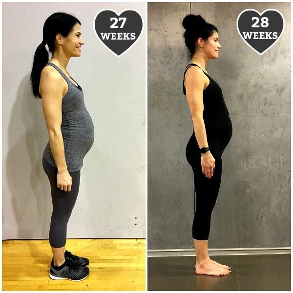 28 weeks pregnant belly