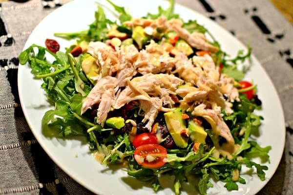 salad with rotisserie chicken