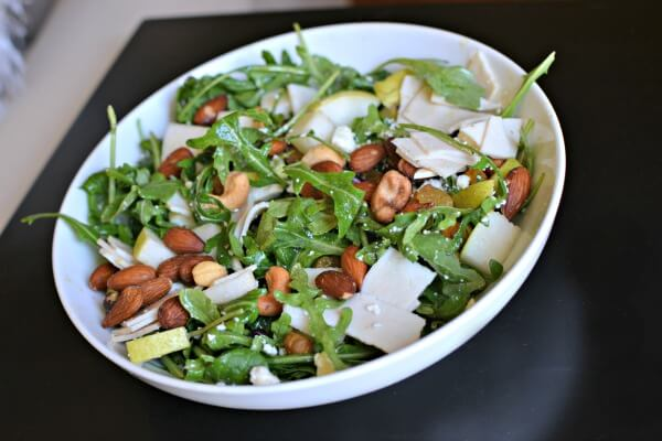 salad with turkey and pears