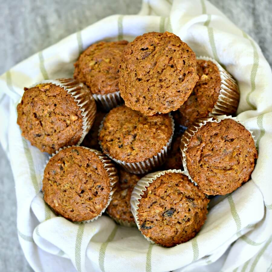 Banana Morning Glory Muffins or Quick Bread