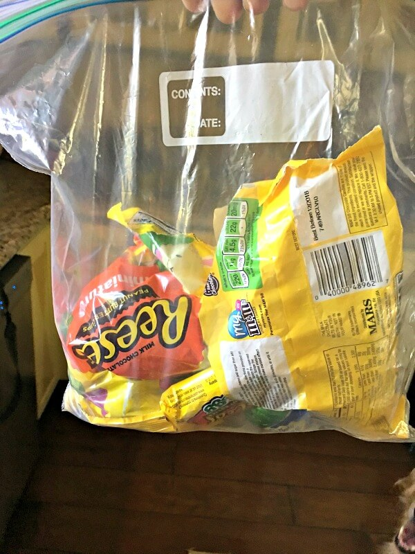 easter candy stash