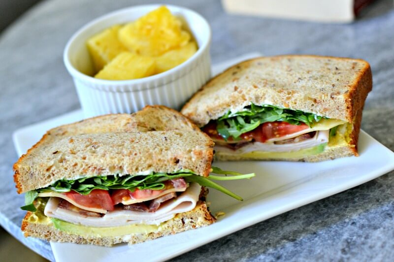 turkey, bacon and cheese sandwich