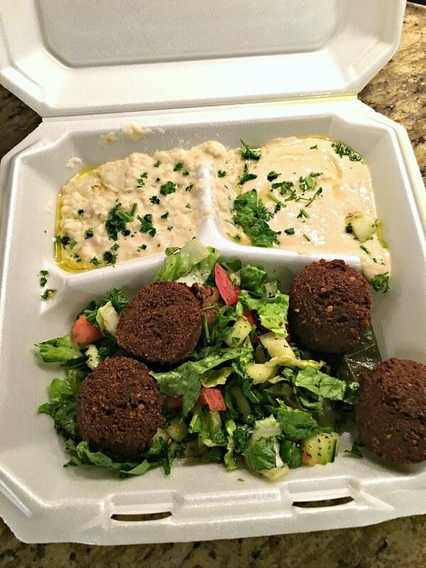la shish kabab vegetarian plate