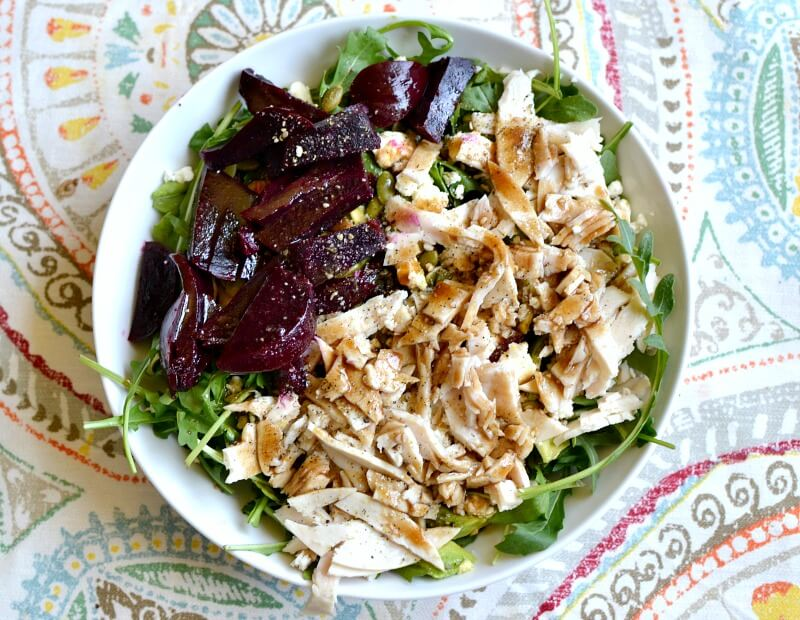 salad with turkey and beets