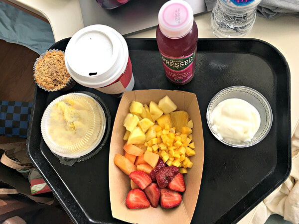 hospital breakfast postpartum