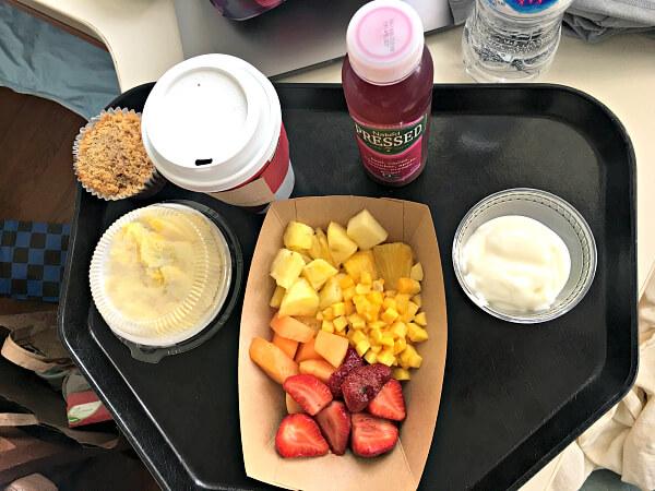 hospital breakfast postpartum