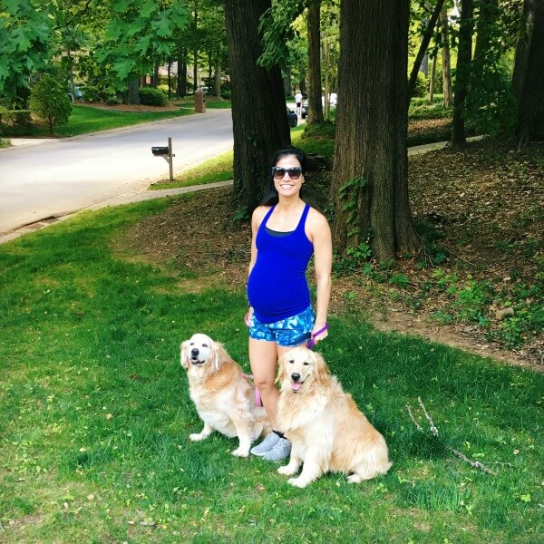 39 weeks pregnant dog walking