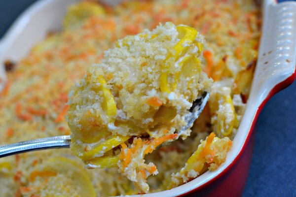 Cheesy Summer Squash Casserole
