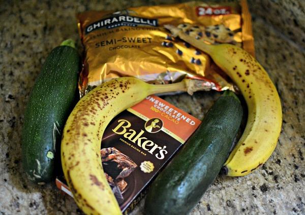 chocolate zucchini banana bread ingredients