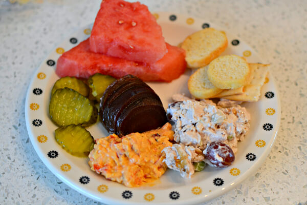 lunch snack plate