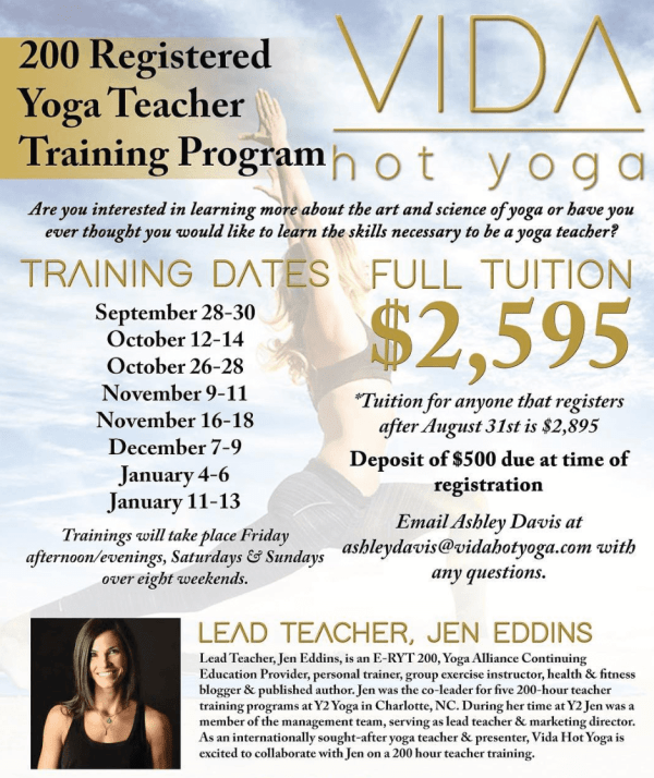 vida hot yoga teacher training