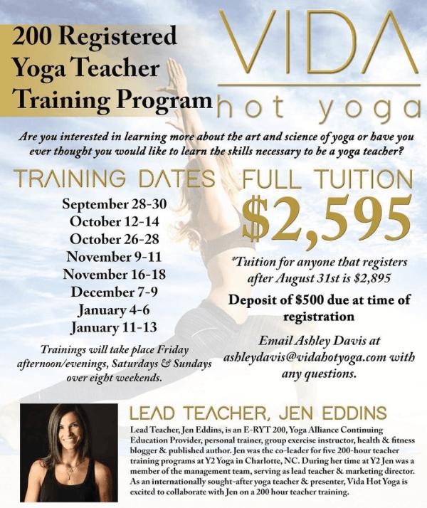 vida hot yoga teacher training