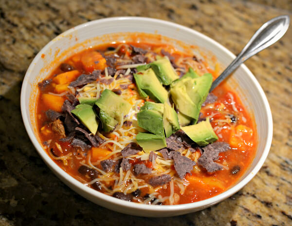 turkey, sweet potato and black bean chili