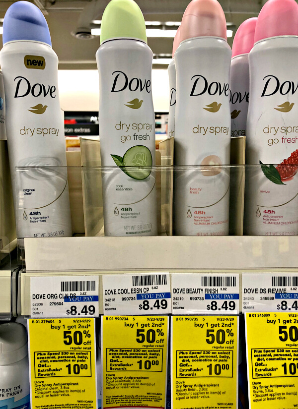 Dove Dry Spray at CVS