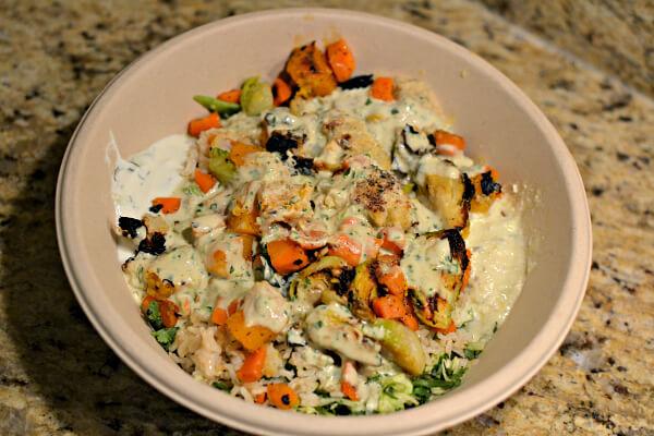 cava greens and grains bowl