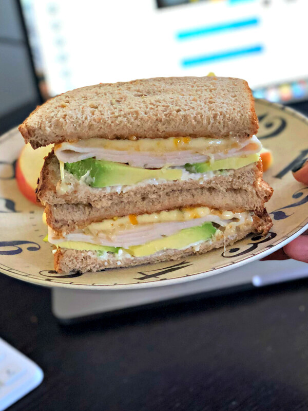 turkey sandwich with pepper jack and apricot preserves