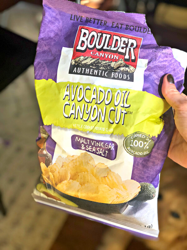 Malt Vinegar and Sea Salt Avocado Oil Chips from Boulder Canyon