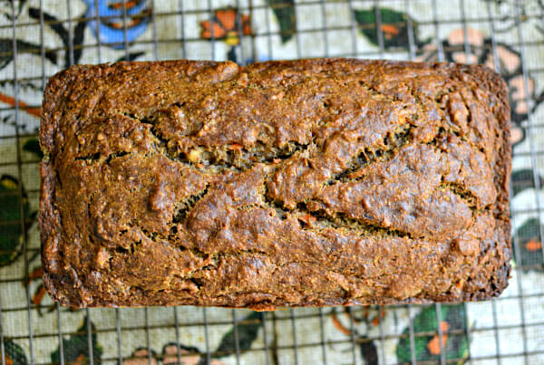 Carrot Maple Oat Banana Bread