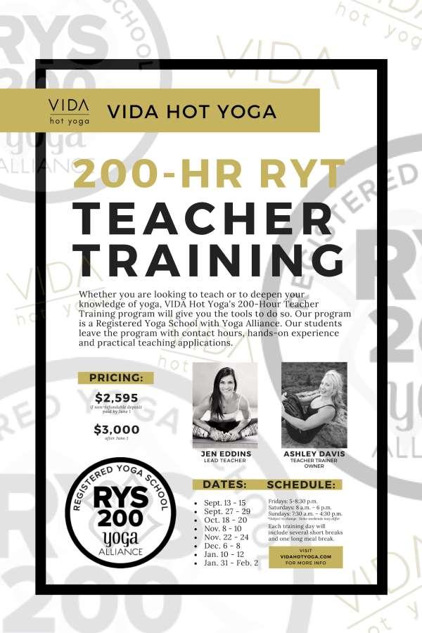 VIDA Hot Yoga Power Yoga Teacher Training