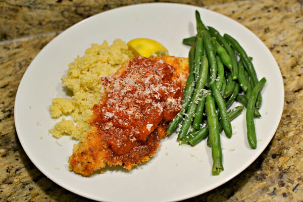 Lemon parmesan panko crusted chicken breast
