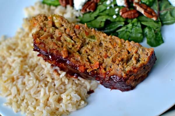 Veggie Packed Turkey Meatloaf - Peanut Butter Runner