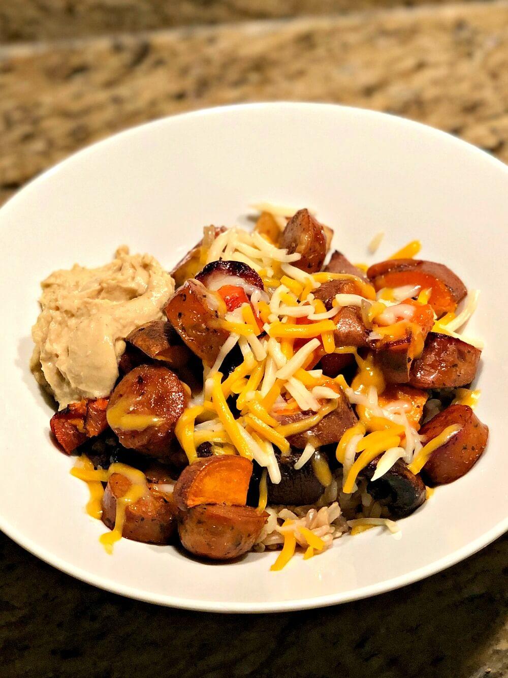 Chicken Sausage Grain Bowl
