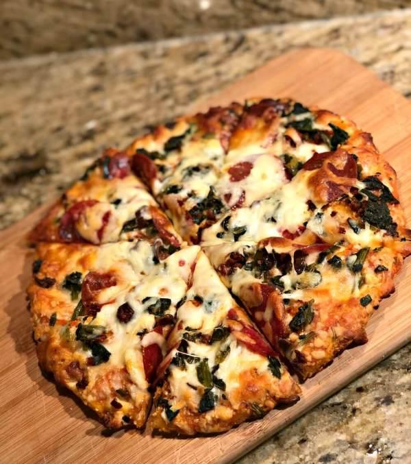 Whole Foods mediterranean frozen pizza