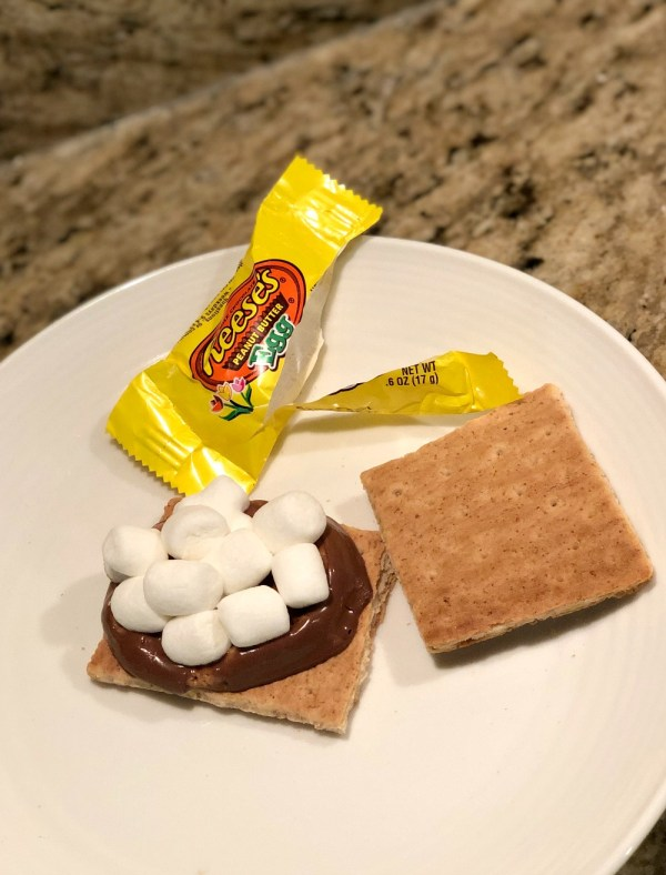 Reese's egg s'mores