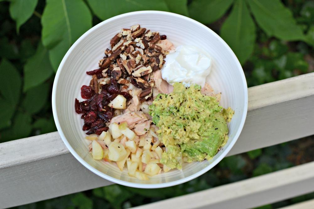 fruit and nut tuna salad