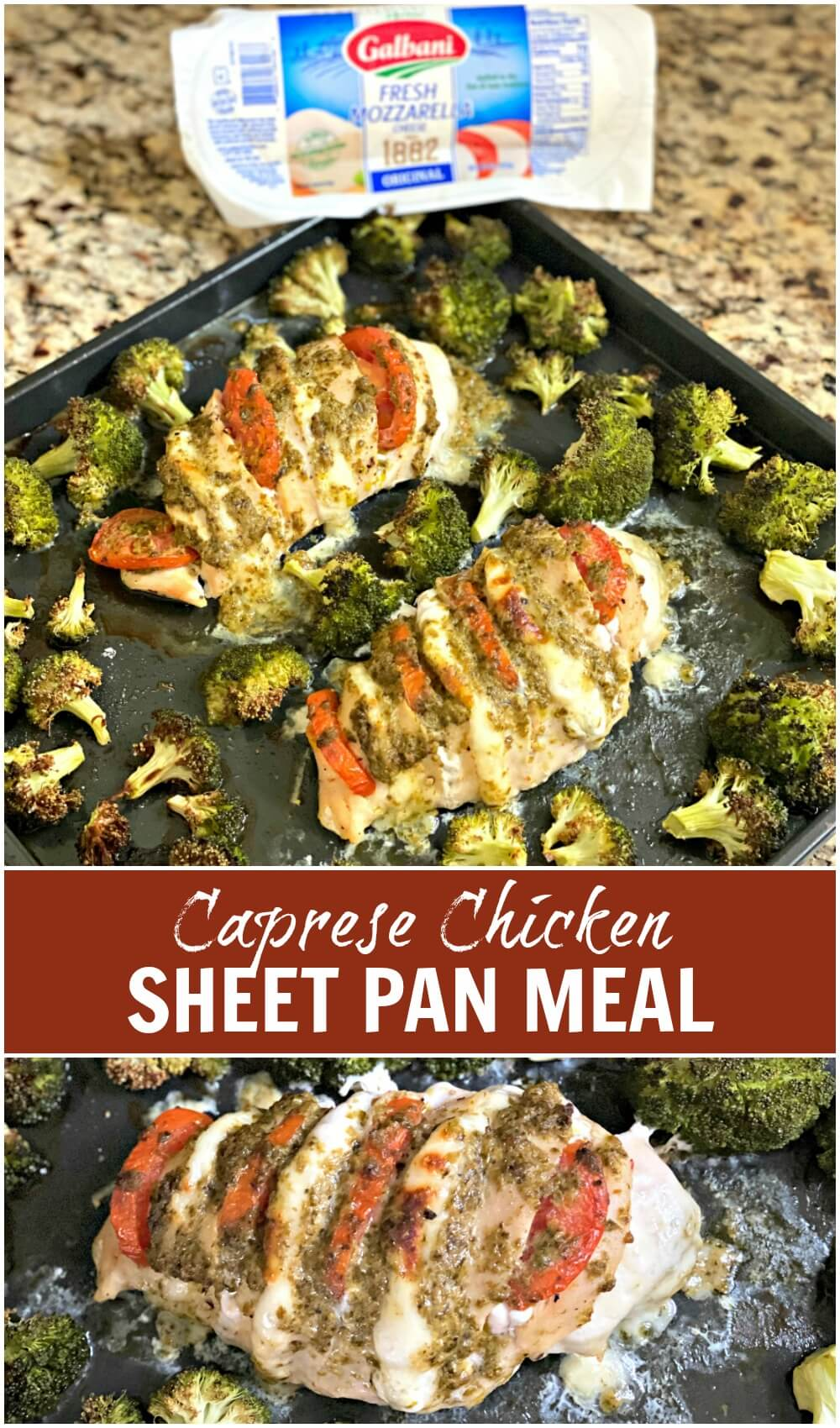 caprese chicken breast sheet pan dinner