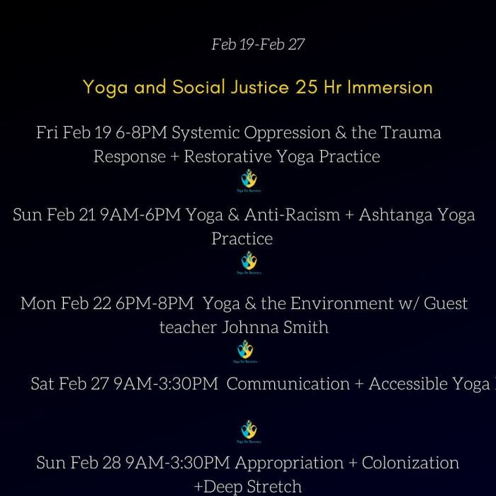 yoga and social justice immersion