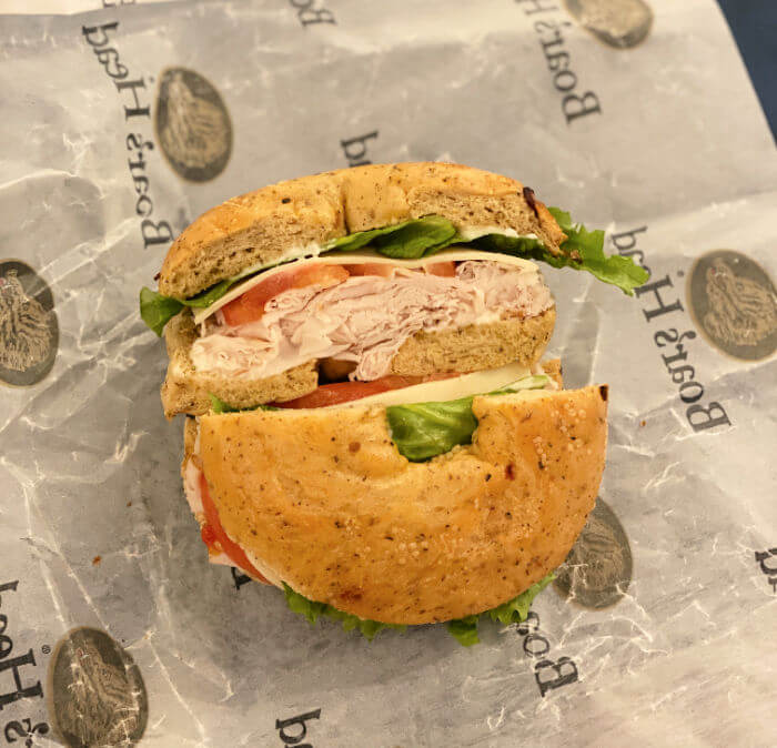 bagel exchange bagel sandwich