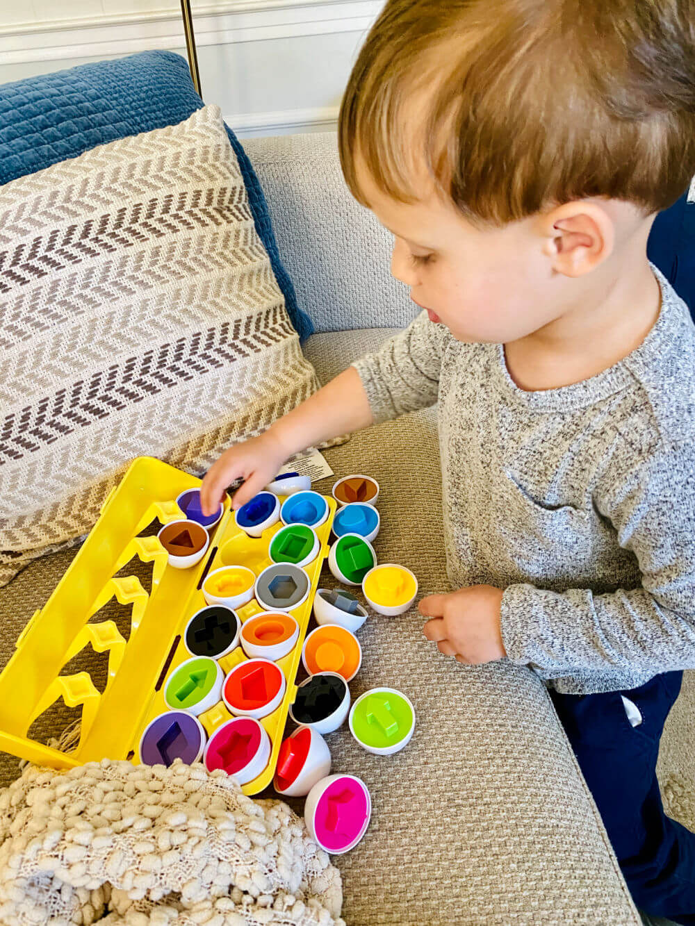 egg shape and color matching toy