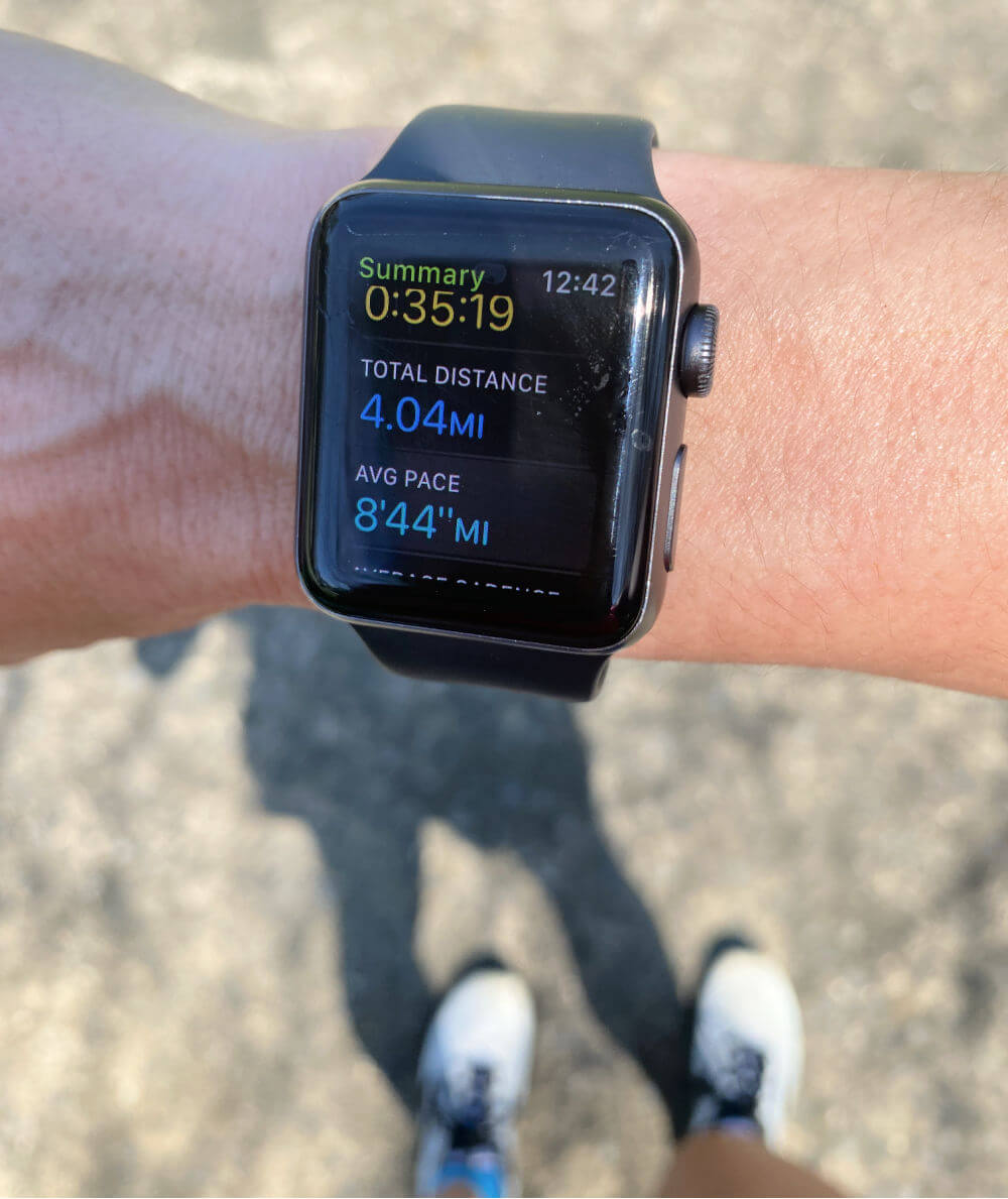 Apple Watch running