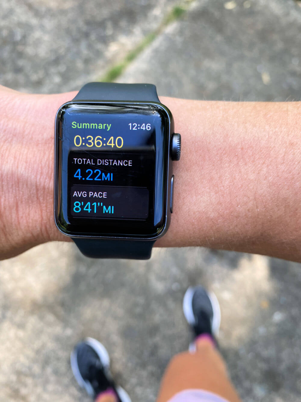 Apple Watch running