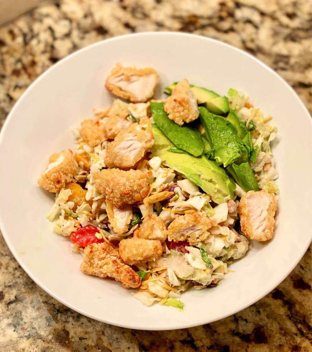 chicken nugget chopped salad