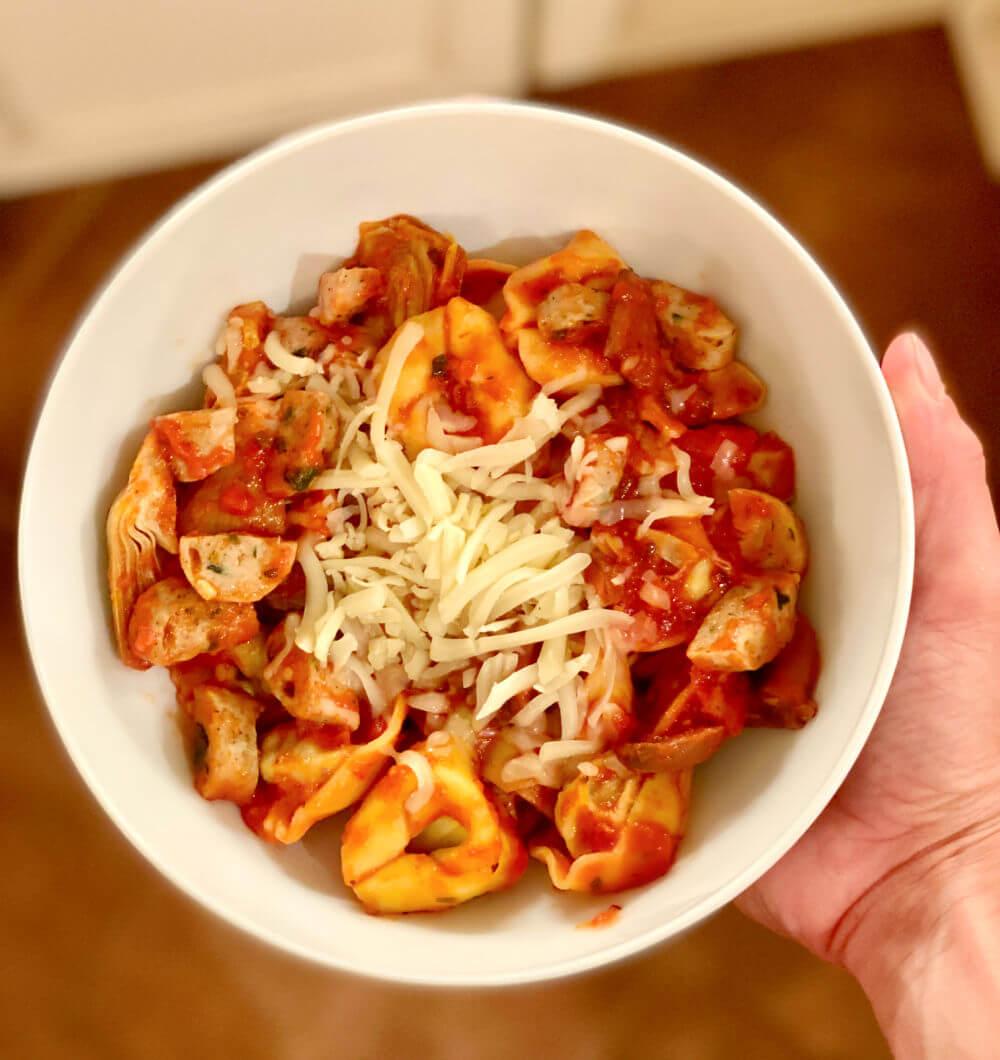 tortellini pasta bowl
