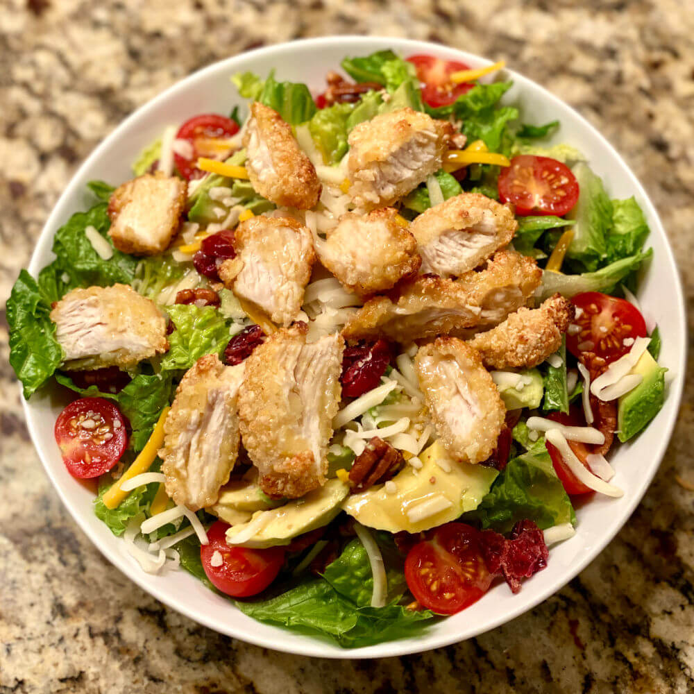 chicken nugget salad