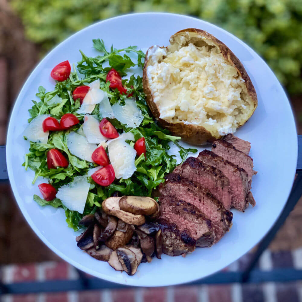 steak dinner for one