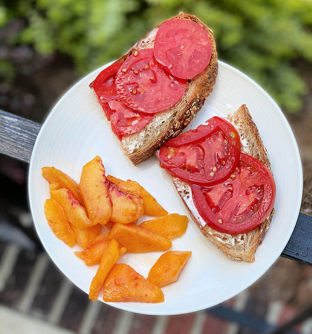 homegrown tomato toast